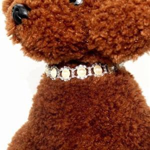 High quality rhinestone pearl beaded dog collar