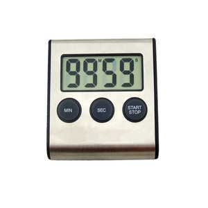 Hot sell digital kitchen countdown timer in ABS Plastic and Stainless Steel material with ultra loud alarm
