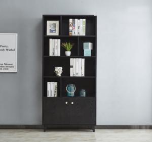 Minimalist modern solid wooden storage bookcase display bookshelf