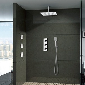 Multi-function wall mounted shower set Bathroom Faucet Accessories rainfall shower head set