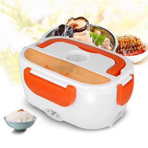 New Portable Electric Heating Lunch Box Food Container Food Warmer Heater Dinnerware Sets for Home Car