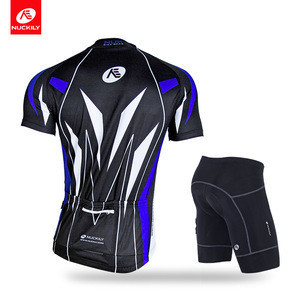 NUCKILY Men's summer outdoor sport jersey set cool design cycling top and short for cyclist
