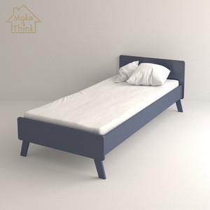 OEM wooden pine kids playhouse furniture bedroom boy mdf children single modern bed