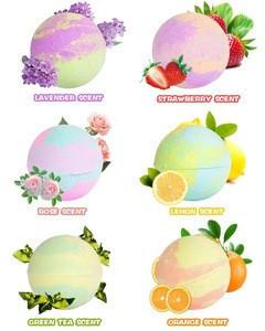 Organic Beauty Color Hemp Fizzy Bath Bombs Gift Set Floating Animal Cbd Kids Bath Bombs Bracelet for Kids with Toys Inside