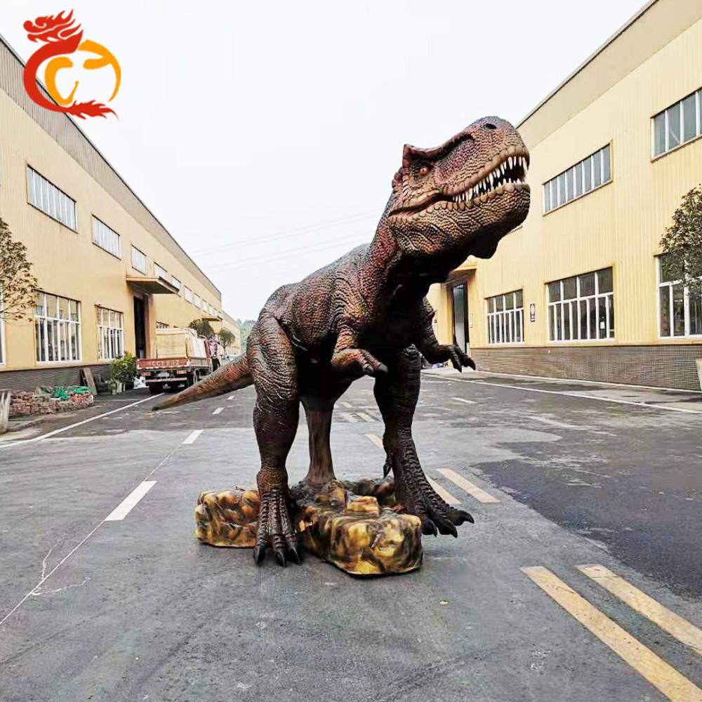 Outdoor Playground Equipment Animatronic Robot Dinosaur King Model For Sale