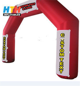 Pvc material inflatable finish arch for sport games