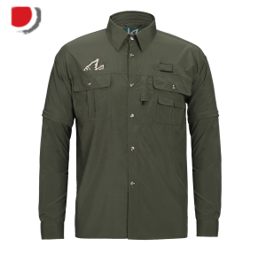 Quick dry fabric fishing shirts,detachable sleeves shirts,customer-made wicking breathable fishing shirts