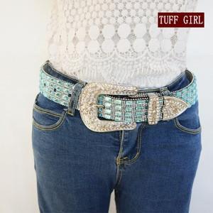 Rhinestone Studded Western Belt For Women Cowgirl Rhinestone Wedding Belt Strap Cinto De Strass 95cm