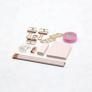 Rose Gold Stationery Gift Kit School Office Supplies Stationery Sets of 24 Gift Items Office Products (Rose Gold)