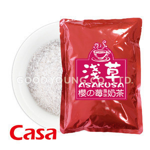 Taiwan ISO Certification Organic Boba Bubble Tea Drinks with Instant Strawberry Milk Tea Powder Ingredients