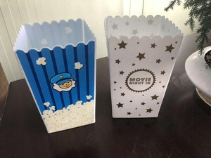 Taizhou Factory supply plastic popcorn packaging/bucket/bowl/cup