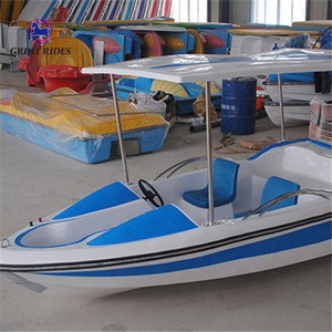 Water play equipment funfair rides 4-5 seats electric boat for sale