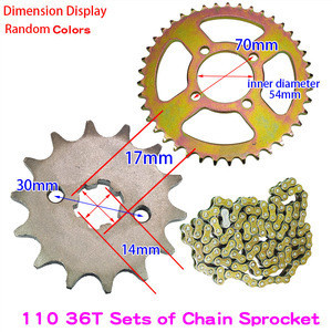 WH SDH JYM JS  HJ QS110-2/A/C  DY100 Cub type motorcycles  chain sprocket  48Q motorcycle spare parts 428 36T 428H 41T 14T