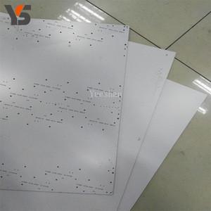 White melamine pcb pcba drill Backup Board
