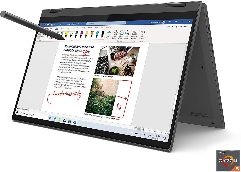 """Lenovo Flex 5 14"""" 2-in-1 Laptop, 14.0"""" FHD 1920 x 1080 Touch Display, AMD Ryzen 5 4500U Processor, 16GB DDR4, 256GB SSD, AMD Radeon Graphics,"""