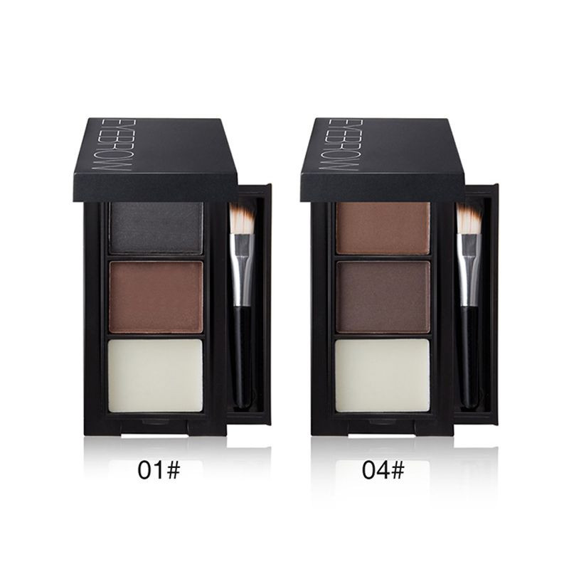 OEM custom generation processing three color cosmetics manufacturers direct waterproof not easy to take off makeup eyebrow powder
