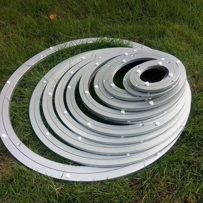120-1000mm Alumium Lazy susan bearing turntable swivel Ball bearing  swivel Plate for Table Showcase