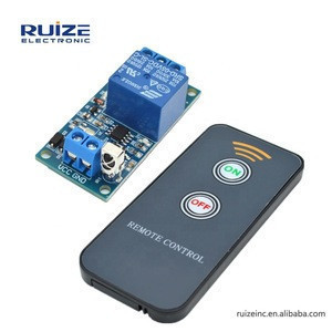 1 Channel IR Infrared Receiver Driving Sensor Switch Relay Driver Module Board 5V + Active Remote Controller