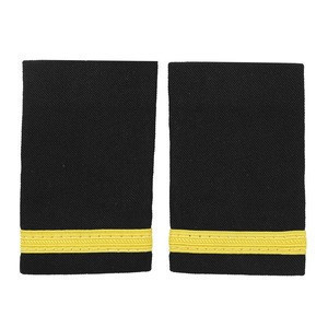1 Pair Nylon Stripes Printed Traditional Professional Pilot Uniform Epaulets Stylish Shoulder Badges Garment Accessory