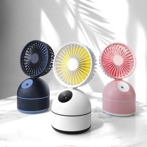 2019 New Design  Multifunctional desk humidifier water spray misting fan