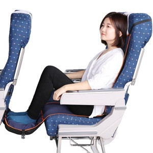 Airplane Footrest Hammock Portable Travel Adjustable Height Flight Footrest Provides Relaxation and Comfort for Airplane