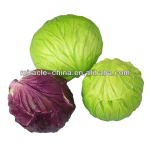 Artificial vegetables green cabbage for decor