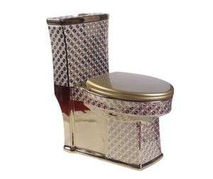 Chinese ceramic golden toilet luxury colored toilet bowl