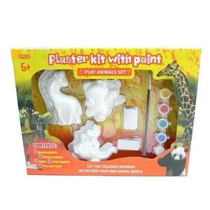DIY Graffiti Children's Educational Toys Plaster Kit with Paint