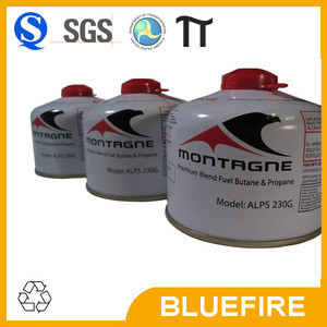 Empty smalll LPG gas cylinder conform to EN417 screw type