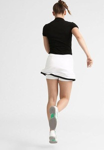 Hot sale college tennis match wear fashion design ,custom white color tennis sports skirts women wear