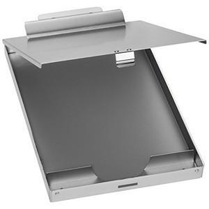 Hot sell wholesale Waterproof aluminum dual storage clipboard folding aluminum metal clipboard with storage