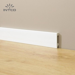 INTCO Quick Install Waterproof Plastic White Skirting Cornice Moulding