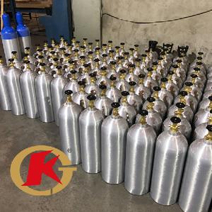 KJ factory direct sale food grade 4L 6L 12L 13.4L 20l High Pressure Oxygen/co2 Aluminum Cylinder
