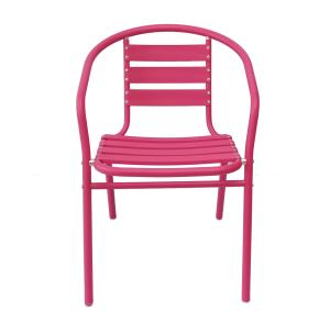 Metal Frame Indoor-Outdoor Restaurant Stack Garden Chairs