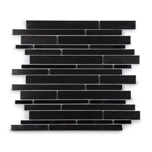 Moonight New Arrival Black Stainless Steel Strip Mosaic for Backsplash and Wall