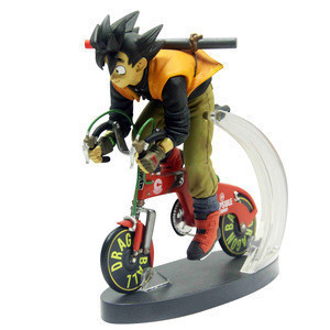 OEM PVC toys Japanese cartoon anime man riding on a bicycle action figure