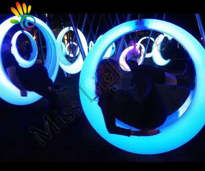 Outdoor Entertainment colorful hanging swing chair lighting Remote Control LED Illuminated Swing