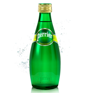 PERRIER SPARKLING WATER 6x(4x330ml) GLASS BOTTLE