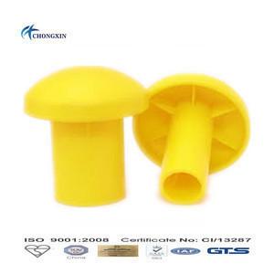 Plastic mushroom rebar cap