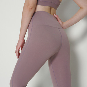 Soft Yoga Leggings Seamless Solid Color High Elastic Sportswear No Camel Toe Spandex Tight Workout Leggings For Ladies