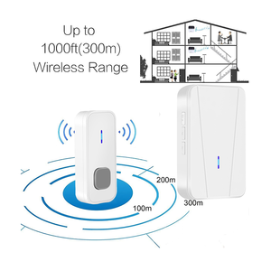 The deaf intelligent industrial mulit receivers door chime house bells hospital nurse pager system wireless home doorbell