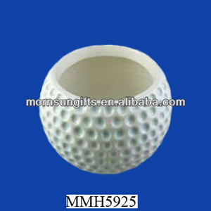 White customized ceramic golf ball