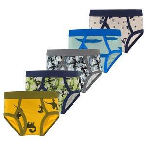 Wholesale Little Kids Briefs Dinosaur Camo Toddler Boys Underwear (Pack of 5)
