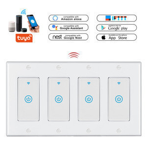 WIFI Smart Light Switch Tuya Smart Switch Compatible with Alexa/Google Assistant IFTTT Remote Control and Timer,No Hub