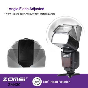 Zomei ZM430 Professional Manual Speedlite Flashlight with LCD Display Hard Flash Diffuser GN56