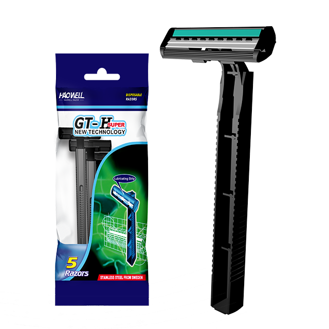 Twin blade disposable shaving razor