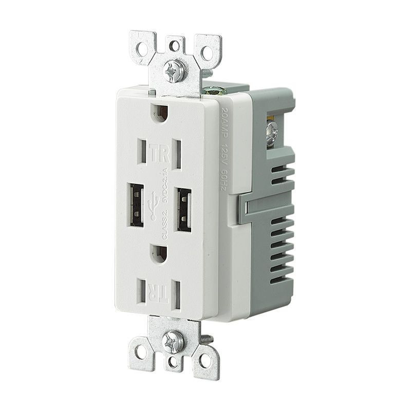 American Type USB Charger Wall Socket