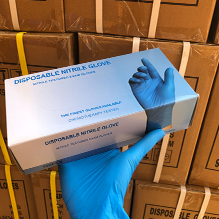 Waterproof guantes nitrilo nitrile disposable gloves
