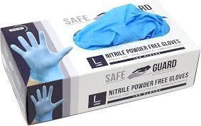 Nitrile Powder Free Gloves, Blue,100 Pcs for sale