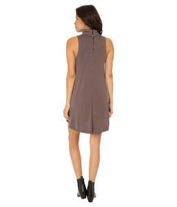 2015 Woman Elegant Mock Neck Hight Quality Mini Dress With Front Wrap Design